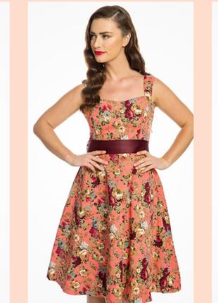 Платье цветочное, пин ап, ретро, 50-х., плюс, большой размер, ...