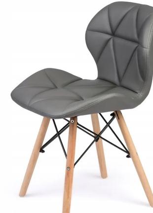 Сучасний скандинавський стілець SOFOTEL SIGMA екошкіра. Сірий. По