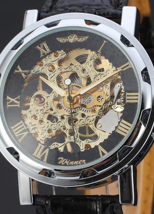 Механические часы - WINNER Skeleton Simple Golden - Новые !