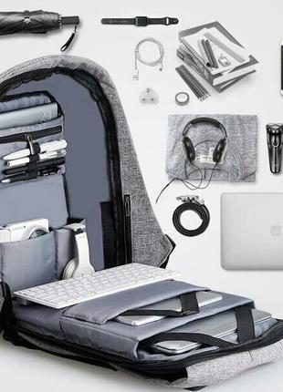 Подарок!Мужской рюкзак для ноутбука,мужская сумка бобби,bobby