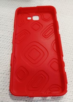 Чехол бампер для Samsung J5 Prime красный силикон