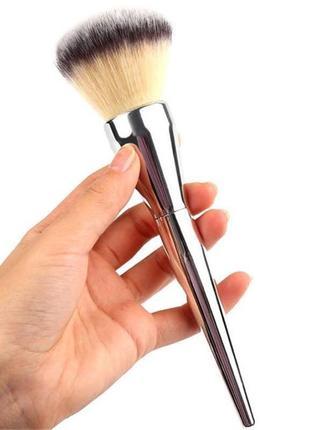 Кисть для макияжа кисть для пудры, румян большая головка металл
