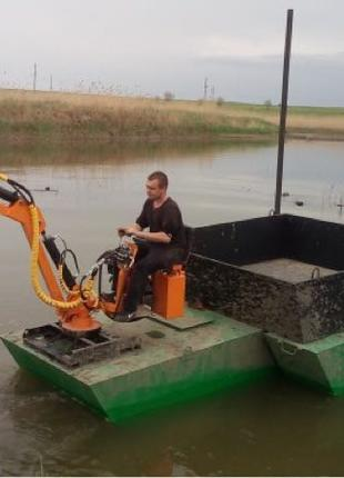 чистка озёра Водоема