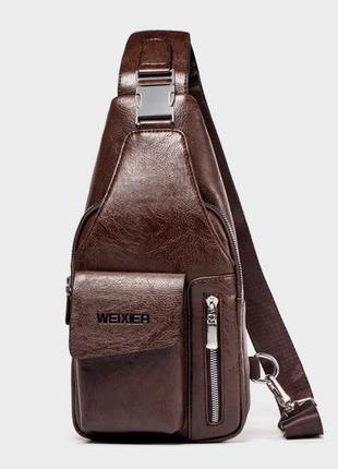 Мужской однолямочный рюкзак мужская сумка через плечо бананка ...
