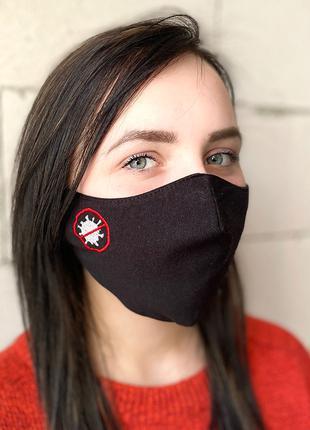 Маска захисна «Stop virus» чорна BATIAR