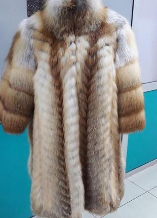 Шуба из лисы большого размера