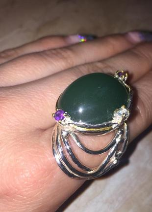 Кольцо с камнем хризопраз кольцо с хризопразом 19 размер натур...