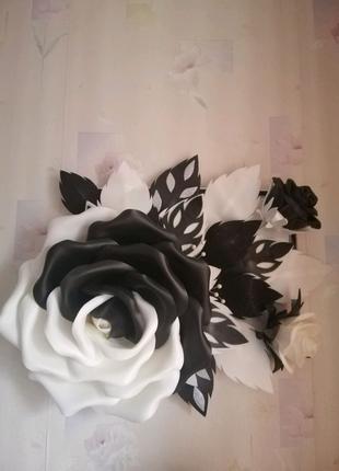 3Д картина. Цветы из изолона. ростовые цветы