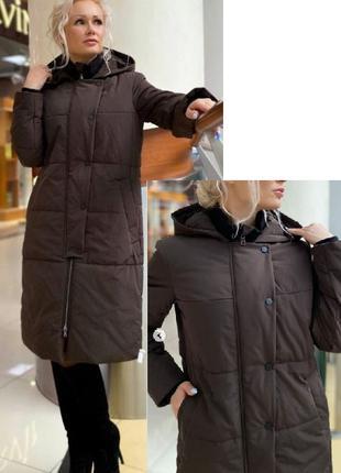 Burvin пальто 7574 т.коричневый