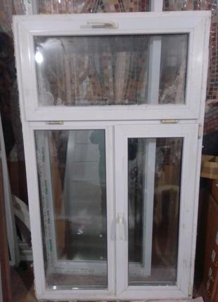 Готовое окно Б/У , размер 1010х1700мм , 2 открывания.