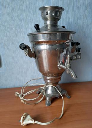 Новый электрческий самовар 1983г Самовар времен СССР