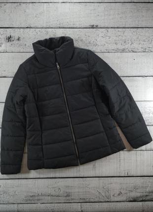 Куртка черная стеганая демисезонная на синтапоне