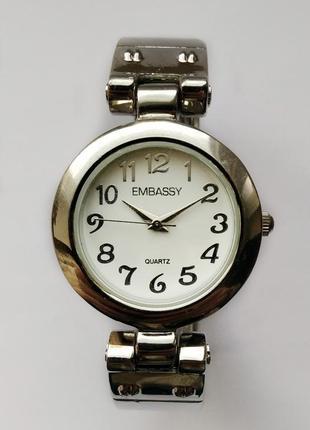 Embassy стильные часы-браслет из сша мех. singapore sii