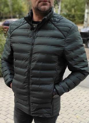 Куртка мужская без капюшона полубатал тёмно-зелёная / куртка ч...