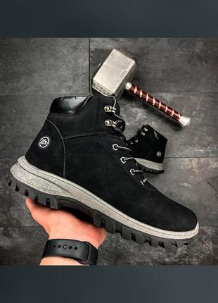 Ботинки мужские зимние lancast черные / черевики чоловічі зимові