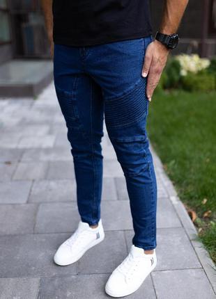 Джинсы джоггеры мужские синие / джинси джоггер чоловічі сині