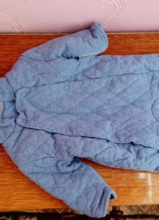 Одежда на мальчика недорого,синий теплый на зиму костюм