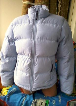 Женская теплая куртка пуховик next ,небесного цвета,мятного ра...