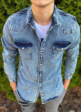 Рубашка мужская джинсовая / сорочка чоловіча джинсова