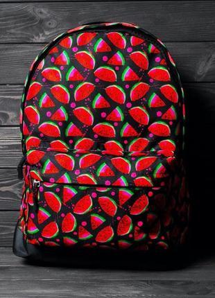 Рюкзак портфель городской с принтом арбуз / рюкзак портфель мі...