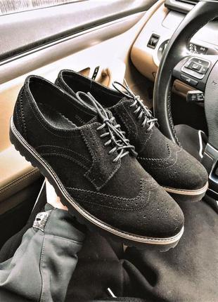 Туфли броги мужские замша / туфлі броги чоловічі замша