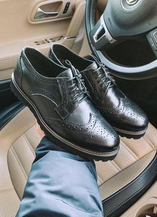 Туфли броги мужские кожа / туфлі броги чоловічі шкіра