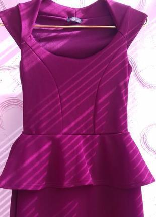 Модное прямое бордовое новое платье винного цвета с рюшками на...
