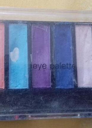 Разноцветные матовые тени набор палетка теней marks spencer ор...