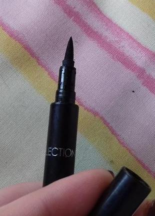 Супер черная стойкая тонкая подводка для глаз маркер для нович...