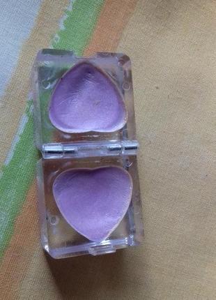 Лавандовые сиреневые двойные кремовые тени для век в форме сер...