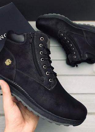 Ботинки мужские эко кожа мех   черевики чоловічі єко шкіра хутро