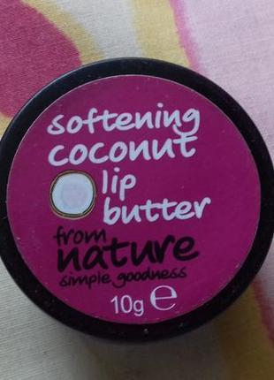 Зимний увлажняющий нелипкий приятный бальзам для губ с кокосом...