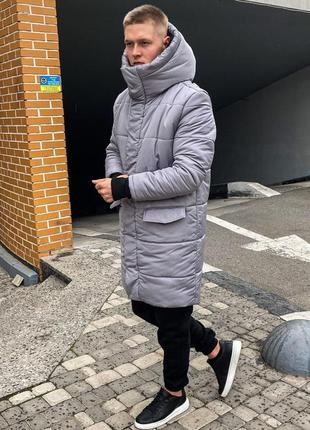 Парка мужская зимняя asos parka long 2020 / парка чоловіча зимова