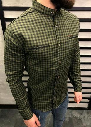 Рубашка мужская в клетку / сорочка чоловіча в клітинку