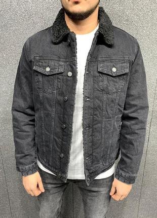 Джинсовый пиджак мужской на меху / джинсовий піджак чоловічий ...