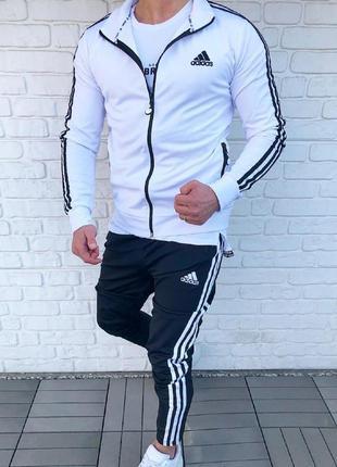 Спортивный костюм мужской adidas лампас | спортивний костюм чо...