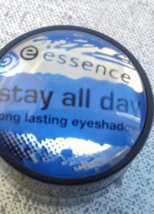 Супер стойкие кремовые синие тени для глаз essence stay all da...