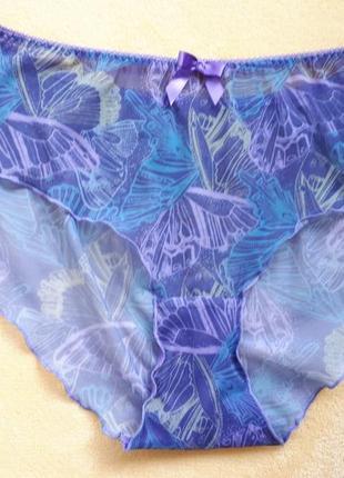 Новые разноцветные трусики слипы бразилианы сетка с бабочками ...