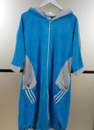Женский велюровый халат 3xl,в наличии цвета и размеры