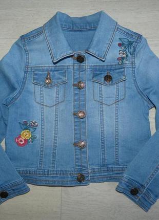 Джинсовая куртка с вышивкой nut meg 5-6 лет