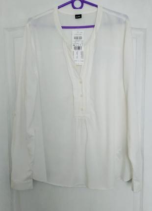 Белая рубашка свободного кроя (100% вискоза)