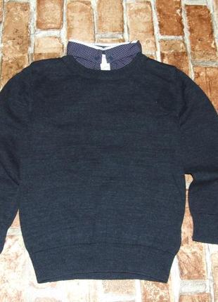 Кофта свитер обманка 3-4 года next сток