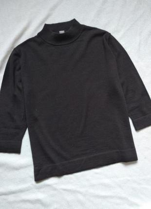 Шерстяной свитер водолазка гольф кофта коричневый gelco