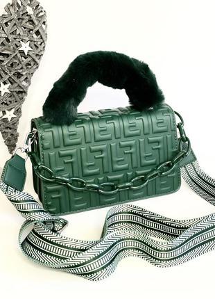 Сумка женская красивый зеленый цвет