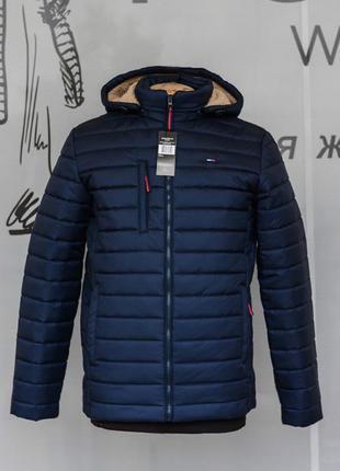 Зимняя мужская куртка пуховик парка удлиненная куртка