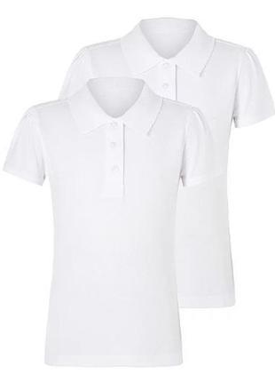 Практичные футболки-поло для девочки  в наборе 2 штуки george ...