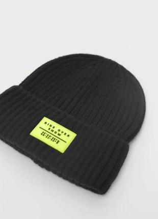 Теплая брендовая шапка для ребенка zara (испания)