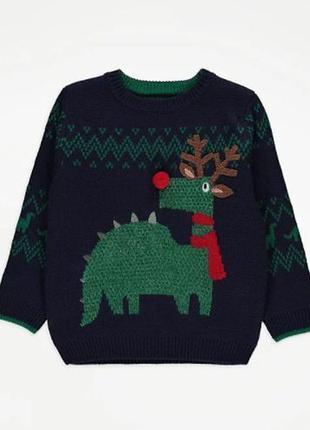 Праздничный свитер для ребенка george (великобритания) новый г...