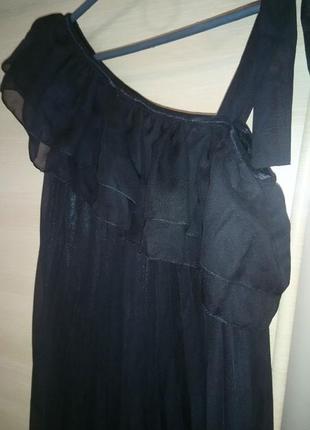 Вечернее шифоновое летнее платье плисе
