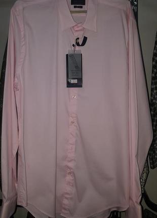 Крутая мужская розовая рубашка zara man - хл - на л, хл